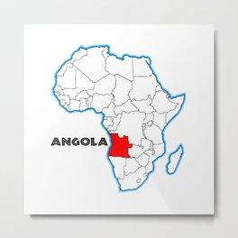 Angola Metal Print