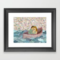 and they lived happily ever after Framed Art Print