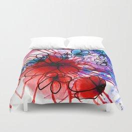 Bold Modern Flower Art - Wild Flowers 3 - Sharon Cummings Duvet Cover
