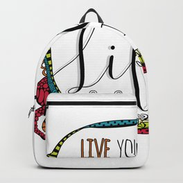 Live Your Life in Colour Backpack