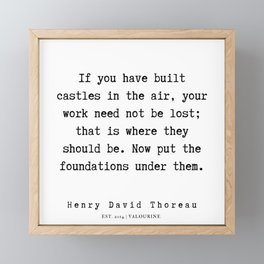 13     Henry David Thoreau Quotes    190715   Framed Mini Art Print