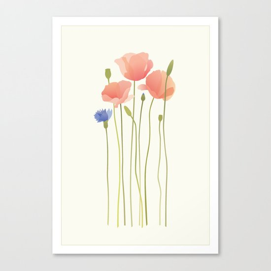 Blushing Poppies II Canvas Print
