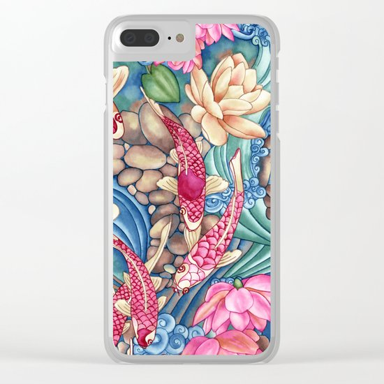 Koi Pond Clear iPhone Case