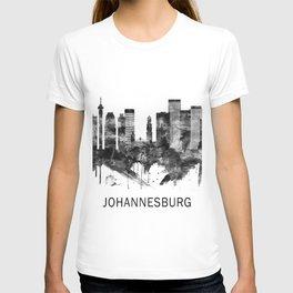 Johannesburg South Africa Skyline BW T-shirt