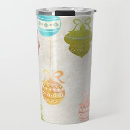 Colorful Watercolor Christmas Ornaments Travel Mug