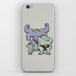 Pokémon - Number 66, 67 & 68  iPhone Skin