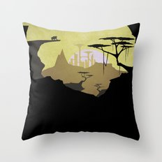 Abandoned city (day) Throw Pillow