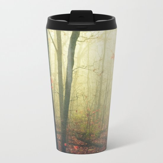 The Woods are Lovely Dark and Deep Metal Travel Mug