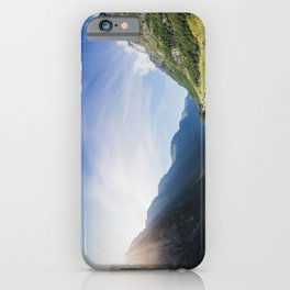 Sunrise over Fjord Village - Wide Panorama iPhone Case
