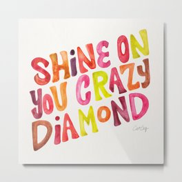 Shine On You Crazy Diamond – Rainbow Palette Metal Print