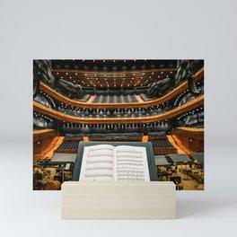 Orchestre Theater score Mini Art Print
