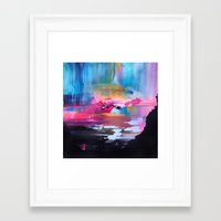 northern lights Framed Art Prints featuring Northern Lights by Mai Autumn