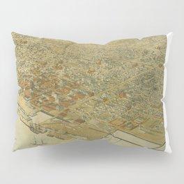 Vintage Pictorial Map of Galveston TX (1885) Pillow Sham