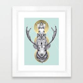 Winter Totem Framed Art Print