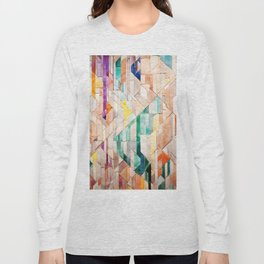 Pastel Tile Mosiac 1 Long Sleeve T-shirt