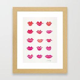 Kiss Collection – Pink Palette Framed Art Print