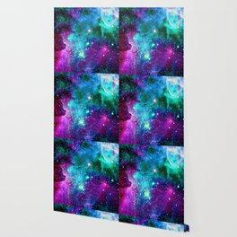 purple pink blue nebula Wallpaper