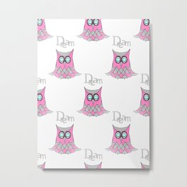 Dream Owl Pattern Metal Print