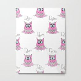 Dream Owl Pattern Metal Print
