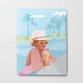 Pool Chill Metal Print