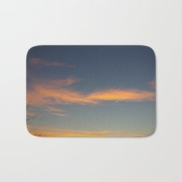 Clouds at sunset Bath Mat