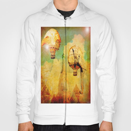 Hot-air balloons animal in Moscow Hoody