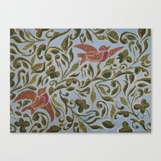 Bird & leaves Canvas Print