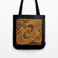 Art Nouveau Swirls in Orange and Black Tote Bag