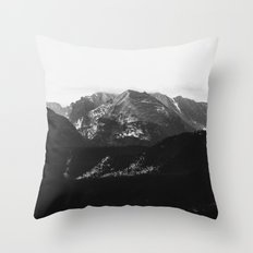 the rockies | grayscale Throw Pillow