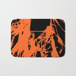 Orange Ink black Bath Mat