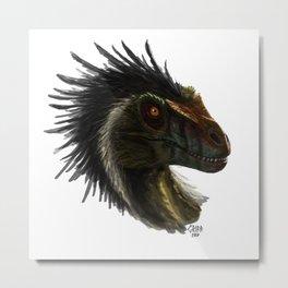 Raptor Head Metal Print