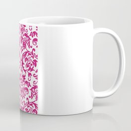 Elegant Damask Pattern (fuchsia) Coffee Mug