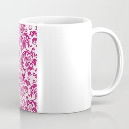 Elegant Damask Pattern (fuchsia) Coffee Mug