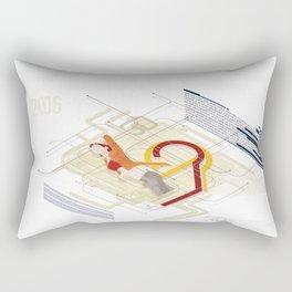 Vector Girl Rectangular Pillow