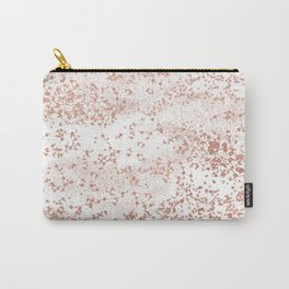 Elegant abstract rose gold girly confetti Carry-All Pouch