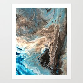 Earthy Waves 2 Art Print