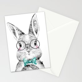 Bunny with Bowtie Stationery Cards