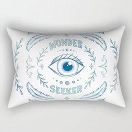 Wonder Seeker - Blue Rectangular Pillow