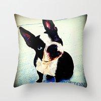boston Throw Pillows featuring Boston by C Liza B