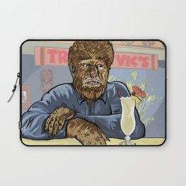 Wolfman drinking a pina colada at Trader Vics. Laptop Sleeve