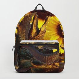 """""""UP TO MY BUTT"""" IN ALLIGATORS  GOLD ART Backpack"""