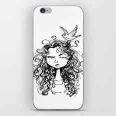 curly hair iPhone & iPod Skin