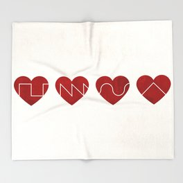 Love Synth Throw Blanket
