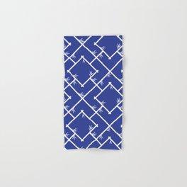 Bamboo Chinoiserie Lattice in Blue + White Hand & Bath Towel