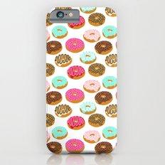Donuts art print junk food pattern design kids minimal modern kitchen baking breakfast hipster baker Slim Case iPhone 6s