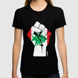 Team Lebanon Flag Tshirt T-shirt