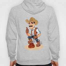 Illustration of a cowboy  with pistol Hoody