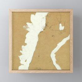 "Egon Schiele ""Female Nude with White Border"" Framed Mini Art Print"