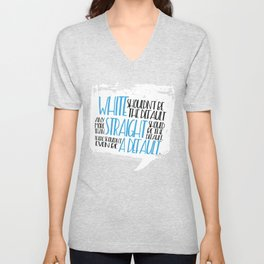 There Shouldn't Be A Default - Simon vs the Homo Sapiens Agenda book quote design Unisex V-Neck