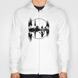 Upside down, Steve and the gang on bicycles, Stranger thing gift Hoody